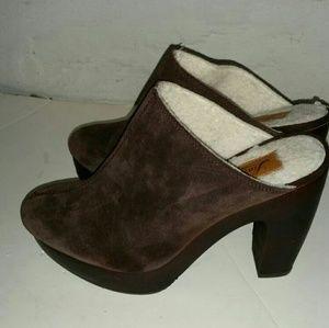 Lucky Brand heel clogs for women.